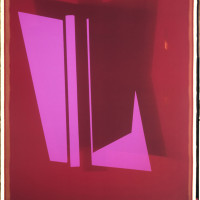 'Red and Pink', 2013, Unique Polaroid print, 34 x 22 inches / 86.5 x 56 cm