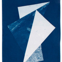 'Untitled 02', 2014, Cyanotype on cotton paper 11 x 14 inches / 28 x 35.5 cm