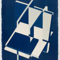 'Untitled 03', 2014, Cyanotype on cotton paper24 x 30 inches / 61 x 76 cm