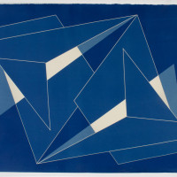 'Untitled 04', 2014, Cyanotype on cotton paper 11 x 14 inches / 28 x 35.5 cm