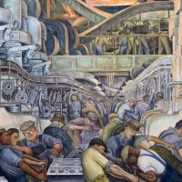 The Detroit Institute of Arts, where is notably located the amazing fresco painted by Diego Rivera in 1932, threatened to sell a part of its collection following the announce of the City's bankrupcy in 2014 but finally got rescued by a special endowment made by local patrons.