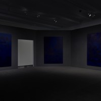 Installation view: Chris Ofili: Night and Day, Aspen Art Museum, 2015. Photo: Tony Prikryl. All works © Chris Ofili. Courtesy the artist, David Zwirner, New York/London and Victoria Miro, London.