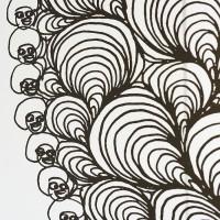 Installation view: Chris Ofili: Night and Day, Aspen Art Museum, 2015. Afro Waves, 2003-2003 (detail). Photo: Tony Prikryl. © Chris Ofili. Courtesy the artist, David Zwirner, New York/London and Victoria Miro, London.
