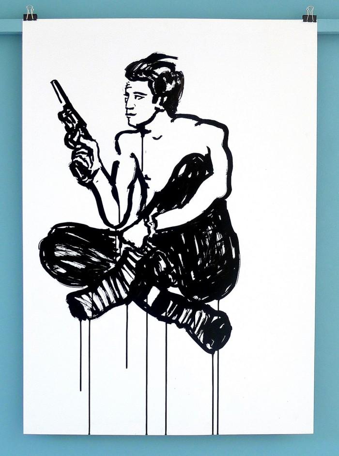 Lucas Ospina 10. 1.00 x 70 cm. Tinta sobre papel. 2015