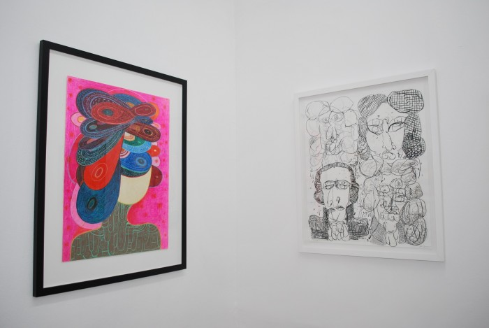 Installation view  Maids Room with Richard Hull and Jose Lerma