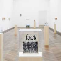 Maryam Jafri, Product Recall: An Index of Innovation, 20142015. Installation composed of framed photos, texts, plinths and objects. Installation view at Kunsthalle Basel, Basel, Switzerland (2015).