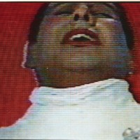 Carlos Leppe, Las Cantatrices (still), 1979. Four-channel video of performance. 10 min. Courtesy of D21 Proyectos de Arte.