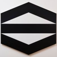 Untitled, 1990. Laminate plastic on wood. 46.06 x 48.23 in (117 x 122,5 cm). Courtesy of Luciana Brito Galeria.