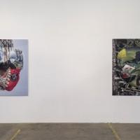 Installation view, Left to Right: Kareem Lotfy, Sosa Ibrahimovic, 2016; Kareem Lotfy, Yoshitoshi, 2016. Courtesy of Fahrenheit, Los Angeles. ©Jeff McLane
