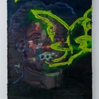 Anastacia (2016). Óleo y aerosol sobre lino. 50 x 40 cms. Cortesía GAMMA GALERÍA.
