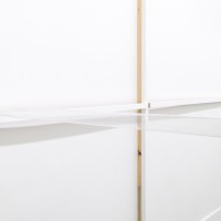 Wall Rail. Variable dimensions; wood, plaster, drywall tape, acrylic. Courtesy of VACANCY, Los Angeles.