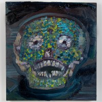 Xpa'nu' (Nuestras Tumbas) (2016). Óleo sobre lino. 60 x 60 cms. Cortesía GAMMA GALERÍA.