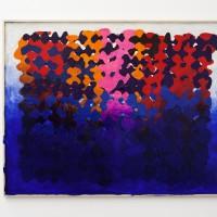 Sin título, 2016. Collage y pintura. 212,5 x 273 cm. Cortesía de Ruth Benzacar Galería de Arte, Buenos Aires.