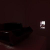 Gómez Personal Archive, 2016. 80 intervened photo slides and slide projector. 17.5 x 33 x 40 cm. Courtesy: Arróniz Arte Contemporáneo. Photo credit: Otmar Osante