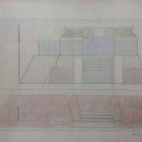 Alejandro Puente. Sin título, 1996. Grafito y lápiz color sobre papel. 36 x 51 cm.