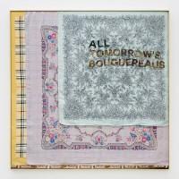 All tomorrow's Bouguereaus, 2016. Silk hankerchiefs on canvas, bronze. 35 x 35 inches. Courtesy: Galería Isla Flotante / Photo credit: Diego Spivacow.