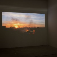 "Exhibition view: Exilio, 2016. Video. Duration: 15' 19"". Courtesy: Galería Isla Flotante / Photo credit: Diego Spivacow."