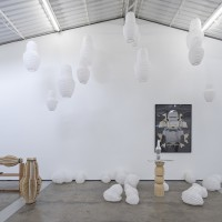 Edgar Orlaineta - History is taking flight and passes forever. Installation view at PROYECTOSMONCLOVA, Mexico City, 2016. Courtesy of the artist and PROYECTOSMONCLOVA. Photo: Patrick López Jaimes
