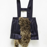 Girl-werewolf, 2007. Fabric skirt and faux fur. 71 x 34 cm. Courtesy: WALDEN. Photo credit: Gustavo Lowry.