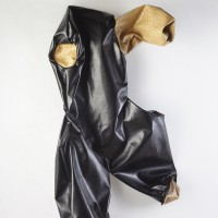 Black body, 2016. Imitation leather and leather. 103 x 66 cm. Courtesy: WALDEN. Photo credit: Gustavo Lowry.