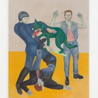 Jill Mulleady, The fight was fixed, 2017. Oil on linen. 64.96h x 49.61w in (165h x 126w cm). Courtesy of the artist and Freedman Fitzpatrick, Los Angeles. Photo: Michael Underwood.