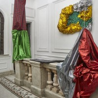 Exhibition view, 2016. Fabric. Variable dimensions. Courtesy: WALDEN. Photo credit: Gustavo Lowry.
