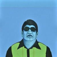 Cesar Martinez, Bato Azul, 2012. Acrylic on canvas. 64 x 64