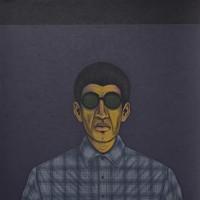 Cesar Martinez, Bato Con Sunglasses, 2014. Acrylic on canvas. 64 x 64