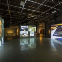 Exhibition view of the 19th Contemporary Art Festival Sesc_Videobrasil: Akram Zaatari, Dance to the End of Love, 2011. Photos by Everton Ballardin. Courtesy ©Associação Cultural Videobrasil.