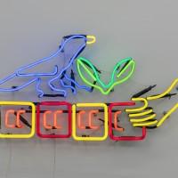 Fernando Palma, Totlalhuan, 2016. Neón. 14.17 x 24.8 x 2.17 inches / 36 x 63 x 5.5 cm. Cortesía del artista y House of Gaga, Ciudad de México.