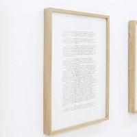 Jesús Monteagudo, Autorretrato (detalle), 2016. Serigrafía sobre papel con sangre del artista. 6 piezas de 36 x 26 cm c/u. Cortesía de Die Ecke, Santiago.