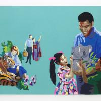 Jesús Monteagudo, No habrá testigos, 2016. Lana bordada a mano sobre tela. 180 x 130 cm. Cortesía de Die Ecke, Santiago.