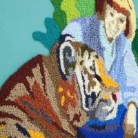 Jesús Monteagudo, No habrá testigos (detalle), 2016. Lana bordada a mano sobre tela. 180 x 130 cm. Cortesía de Die Ecke, Santiago.