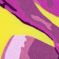 Jesús Monteagudo, Goce y ejercicio (detalle), 2016. Lana bordada a mano sobre tela. 180 x 130 cm. Cortesía de Die Ecke, Santiago.