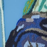 Jesús Monteagudo, El imperio del derecho (detalle), 2016. Lana bordada a mano sobre tela. 180 x 130 cm. Cortesía de Die Ecke, Santiago.