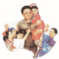 Kim jong il, 2016. Lápices de colores sobre papel. 29 x 31.5 cm.