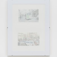 Pablo Accinelli, Frottage: archivo (Frottage: archive), 2016. Frottage on paper. 30 cm x 10,28 m x 3. 14 drawings. Courtesy of Galeria Luisa Strina, São Paulo. Photo: Edouard Fraipont.