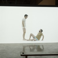 Exhibition view of the 19th Contemporary Art Festival Sesc_Videobrasil: Akram Zaatari, The End of Time, 2013. Photos by Everton Ballardin. Courtesy ©Associação Cultural Videobrasil.