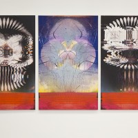 Omar Barquet, Ghost Variations, 2012. Digital printing, screen printing and enamel on canvas. Courtesy of the artist.