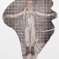 Sarah Ancelle Schönfeld, Shamanistic Travel Equipment/ Coat VII. UV print on cowhide.