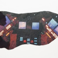 Sarah Ancelle Schönfeld, Shamanistic Travel Equipment/ Coat X. UV print on cowhide