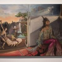 Guzmán Paz, El estudio, 2016. Óleo sobre tela. 50 cm x 80 cm. Fotografía: Guzmán Paz.