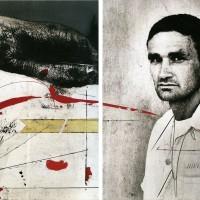 Jones- Raya roja, 1993. Mixta sobre photolinen y lienzo. 250 x 200 cm c/u (Díptico). Colección particular.