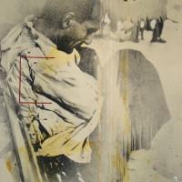 La espera blanca, 1974. Mixta sobre photolinen. 250 x 200 cm. Colección Angelines Vega Bogio.