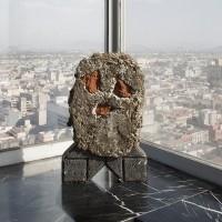 Ramiro Chaves, Leandro, 2015. Concrete, natural fiber, bricks. 55 x 35 x 15. Courtesy of the artists.