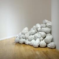 Patria, 2016. Intervención al muro del museo. Dimensiones variables. Fotografía: Miriam Hernández. Cortesía de la artista y Museo de Arte Raúl Anguiano, Guadalajara.