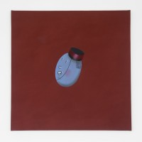 Marcelo Cipis, Hotel's Olive, 1990. Oil on canvas. 90 x 90 cm. Courtesy of the artists and BFA Boatos Fine Arts.