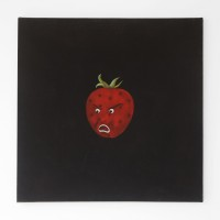 Marcelo Cipis, Angry Strawberry, 1990. Oil on canvas. 90 x 90 cm. Courtesy of the artists and BFA Boatos Fine Arts.