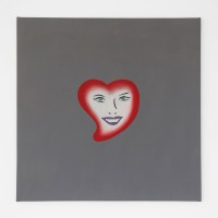 Marcelo Cipis, Happy Heart, 1990. Oil on canvas. 90 x 90 cm. Courtesy of the artists and BFA Boatos Fine Arts.