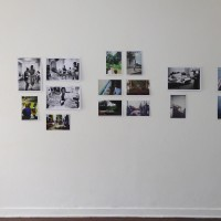 """Installation view. Ursula Böckler: The photographs from the """"Magical Misery Tour"""" with Martin Kippenberger, Brazil, 1986. Courtesy of the artist and SOLO SHOWS, São Paulo."""